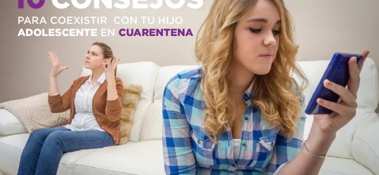 Estrategias para coexistir con mi hijo adolescente en cuarentena
