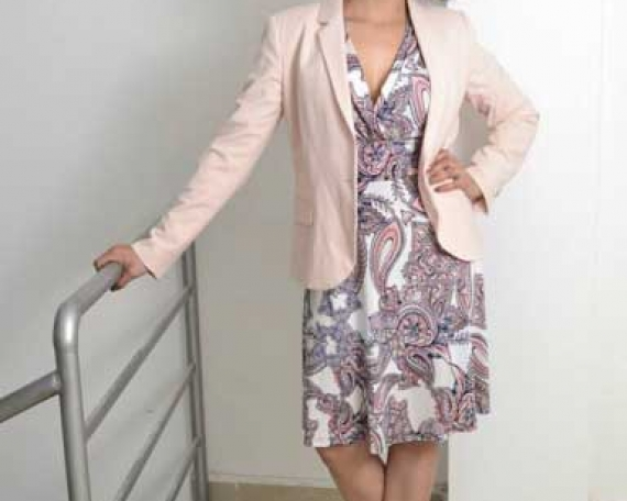 Outfit 2. Blazer rosa