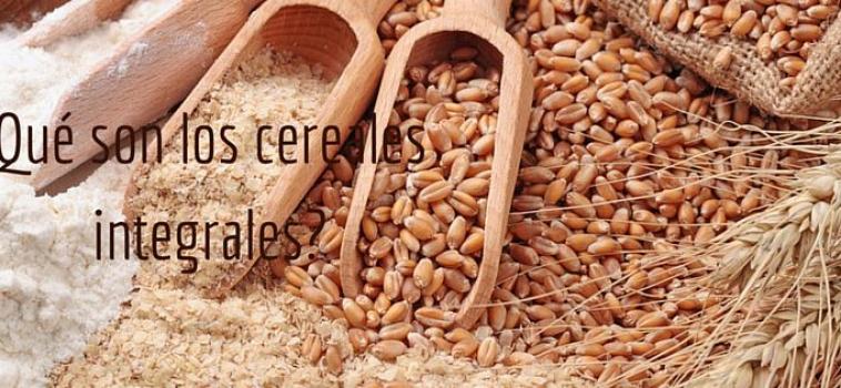 ¿Qué son los cereales integrales?